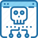 browser, crime, hack, security, skull, website icon