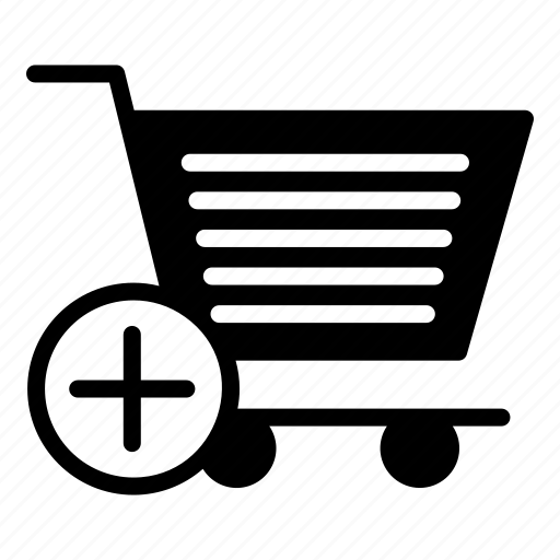 add, basket, cart, shopping, trolley icon