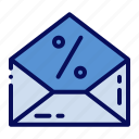 cyber monday, discount, letter, mail icon