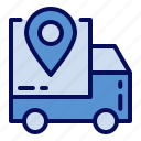 cyber monday, location, shipping, track icon