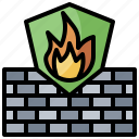 concrete, fire, firewall, infrastructure, prevention, protected, shield