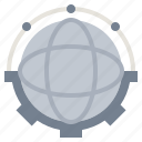 connected, globe, global, connection, data, network, transfer icon