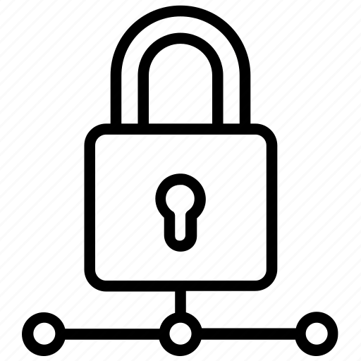 Data protection, network security, secure connection, secure networking, server locked icon - Download on Iconfinder