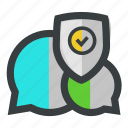 chat, protected, secure, security icon