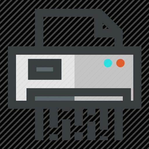 document, security, shredder icon