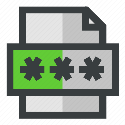 encrypted, file, secure, security icon