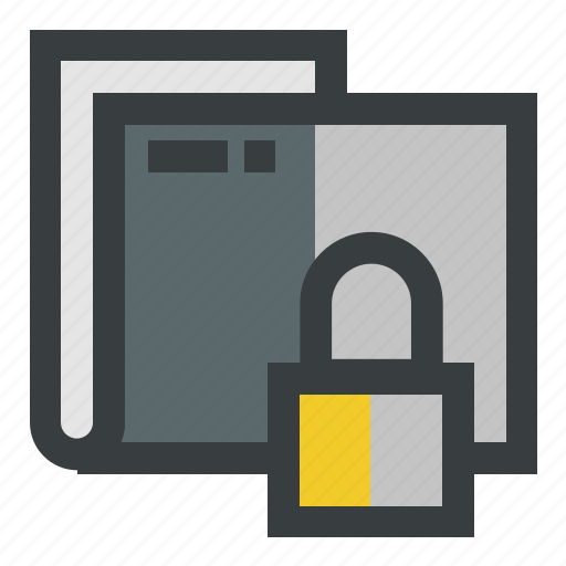 folder, locked, secure, security icon