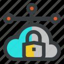 cloud, lock, network, security