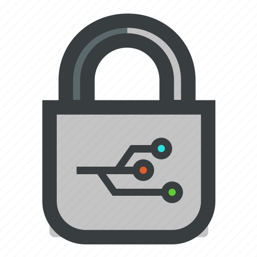 lock, network, security icon
