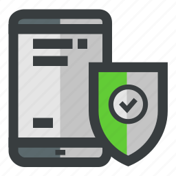mobile, protected, security, verified icon