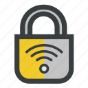 lock, protected, security, wifi icon
