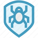 antivirus, bug, protection, security, shield icon