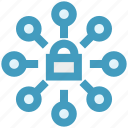connection, cyber, internet, lock, network, security icon