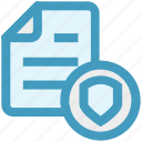 documents safe, list, paper, security, shield icon
