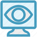 eye, lcd, screen, see, view, watch icon