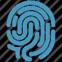 biometric, dactylgram, data, fingerprint, identification, touch id icon