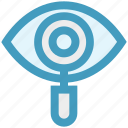 cyber, eye, find, magnifier, searching, security, view icon