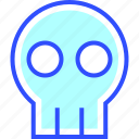 business, company, cyber, digital, security, skull, startup icon