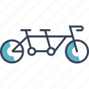 bike, cycling, double, transport icon
