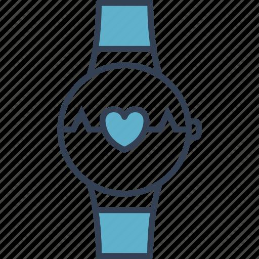 clock, cycling, heart icon