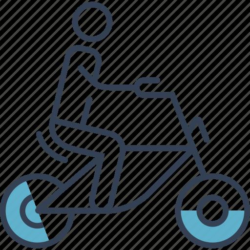 bike, cycling, man, sports icon