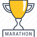 cup, cycling, marathon icon