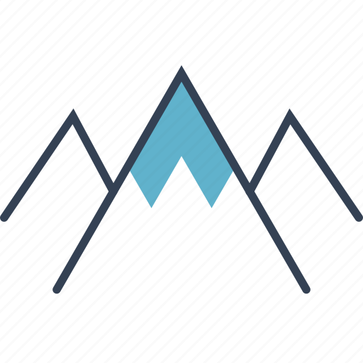cycling, mountains, picture icon