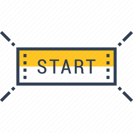begin, cycling, sports, start icon