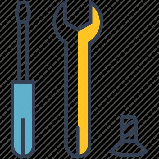 cycling, repair, screwdriver, toolings icon
