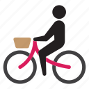 bicycle, bike, cyclist, eko, green, ride icon