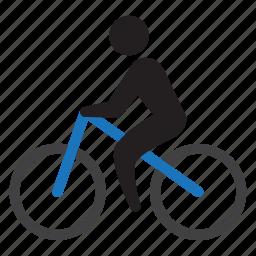 bicycle, bike, cyclist, eko, green, ride icon