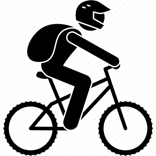 adventure, bicycle, bike, cyclist, mountain bike, rider, riding icon