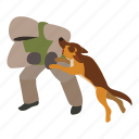 attack, dog, enemy, isometric, love, training