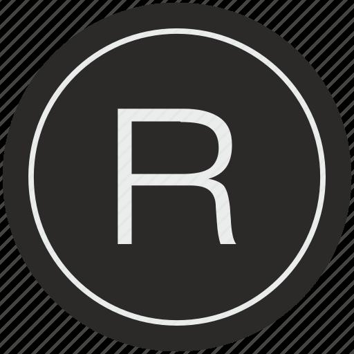 english, latin, letter, r, uppercase icon