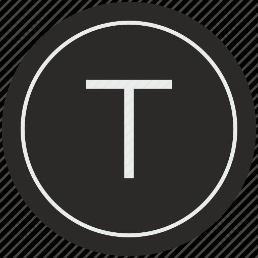 english, latin, letter, t, uppercase icon