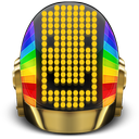 daft, helmet, punk, smile icon