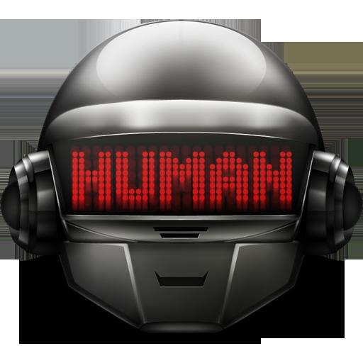 daft, helmet, human, punk icon