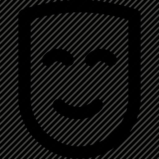 comedy, drama, happy, mask, smile, treater icon