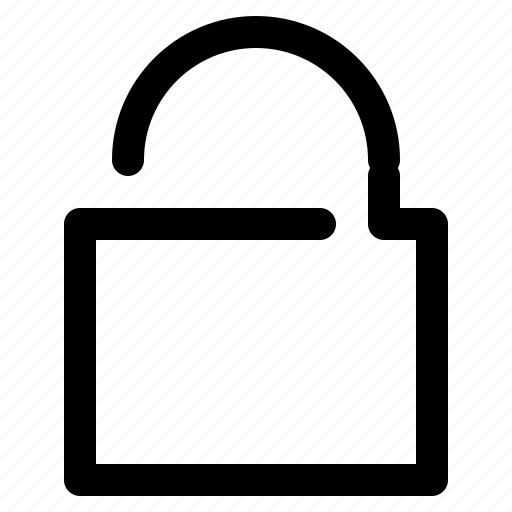 lock, locked, open, privacy icon