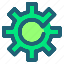 engine, gear, options, setting icon