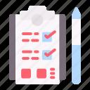 task, clipboard, list