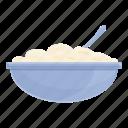 white, cheese, bowl, cream