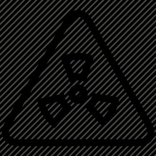 code, danger, emergency, radiation, sign icon