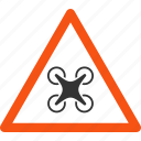 airdrone, caution, danger avion, flying drone, hazard, quadcopter, warning icon