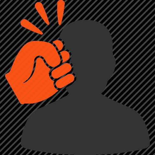 boxing, crime attack, enforce, head strike, kick, person, problem icon