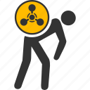 chemical terrorist, chemistry, courier, danger, hazard, terrorism, toxic icon