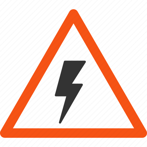 alarm, caution, danger, electric power, electricity, shock, warning icon