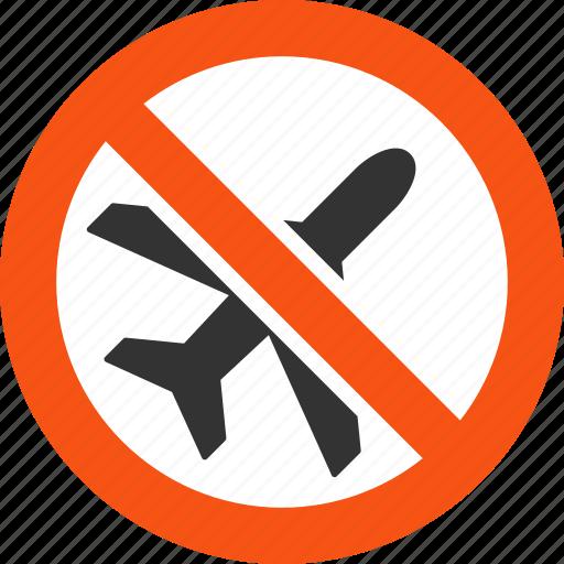 air plane, aircraft, airplane, ariplanes, danger, forbidden, stop icon
