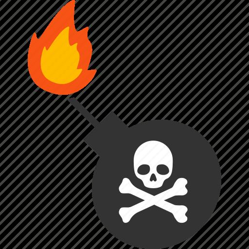 Bomb, dynamite, explosion, explosive, grenade, mortal, weapon icon - Download on Iconfinder