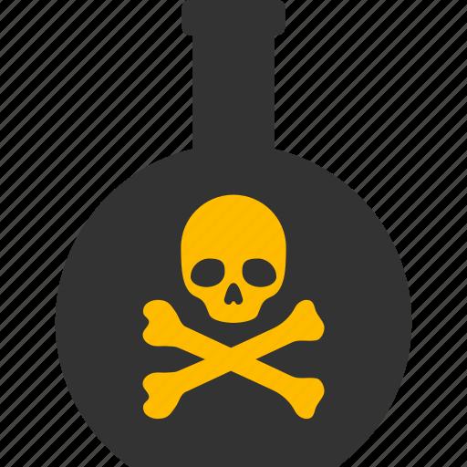 caution, danger, death, hazard, poison, risk, toxic icon